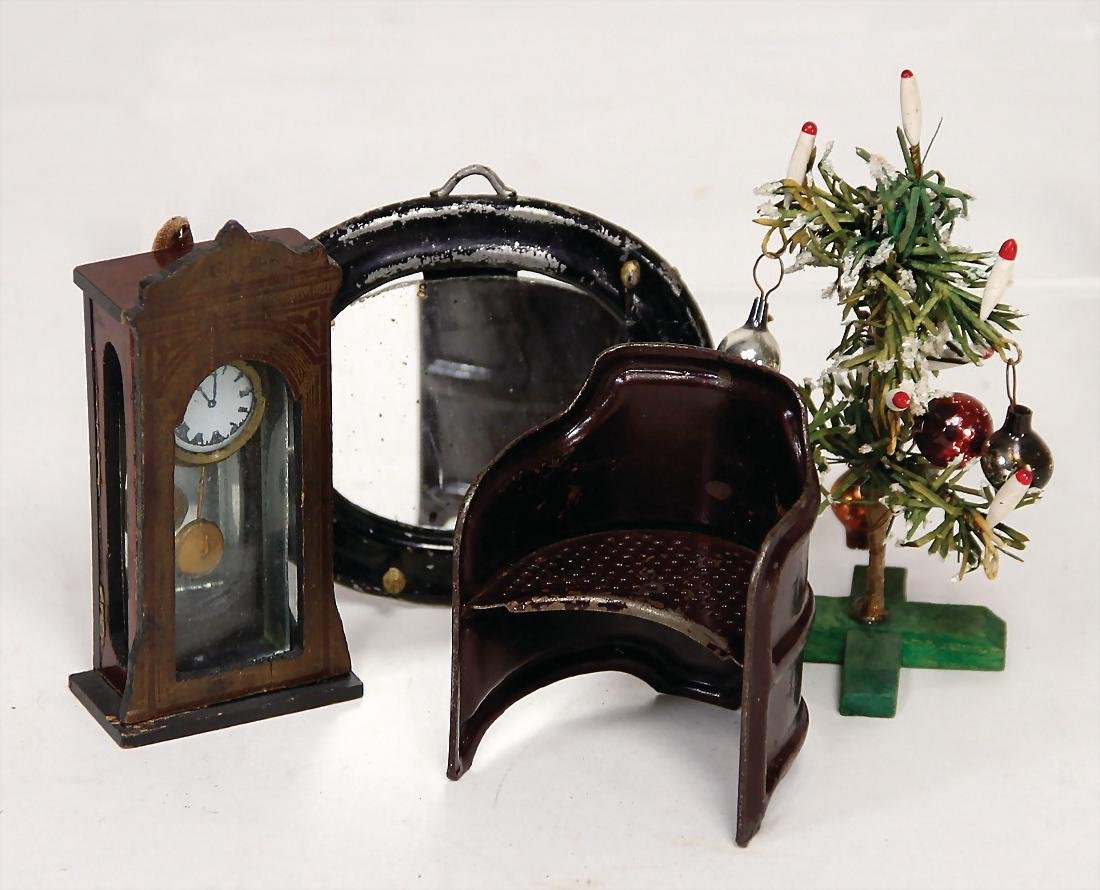 mixed lot of  dollhouse decoration pieces, Boulle