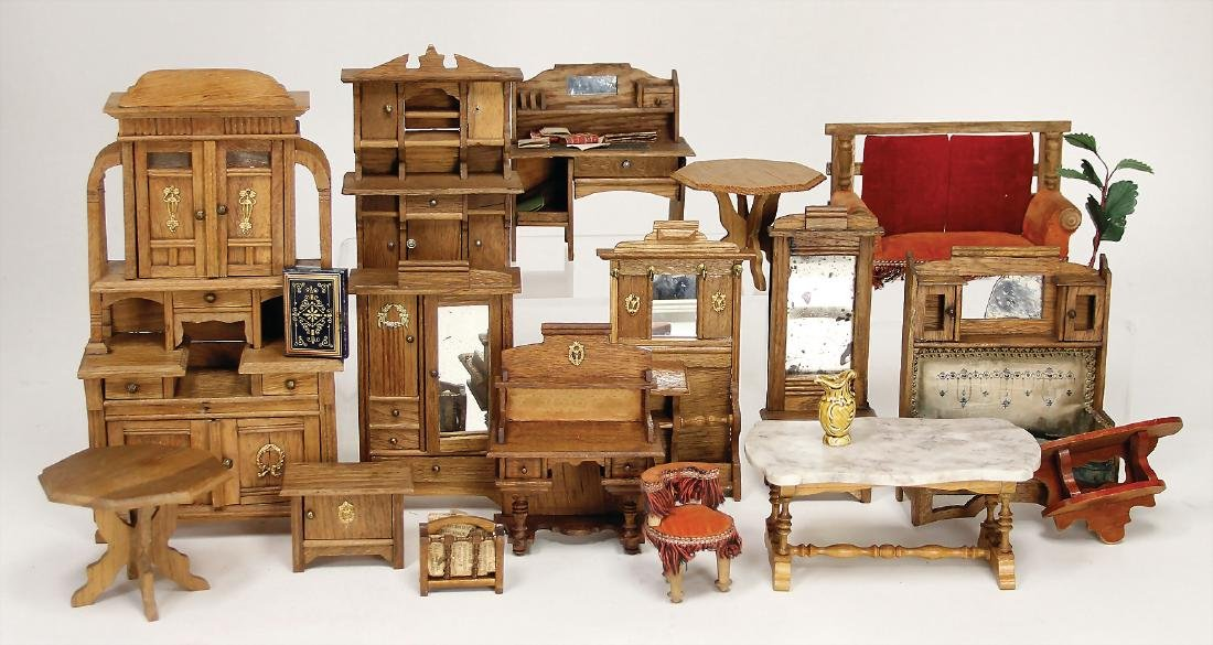 dollhouse furniture, art nouveau, big cupboard, height:
