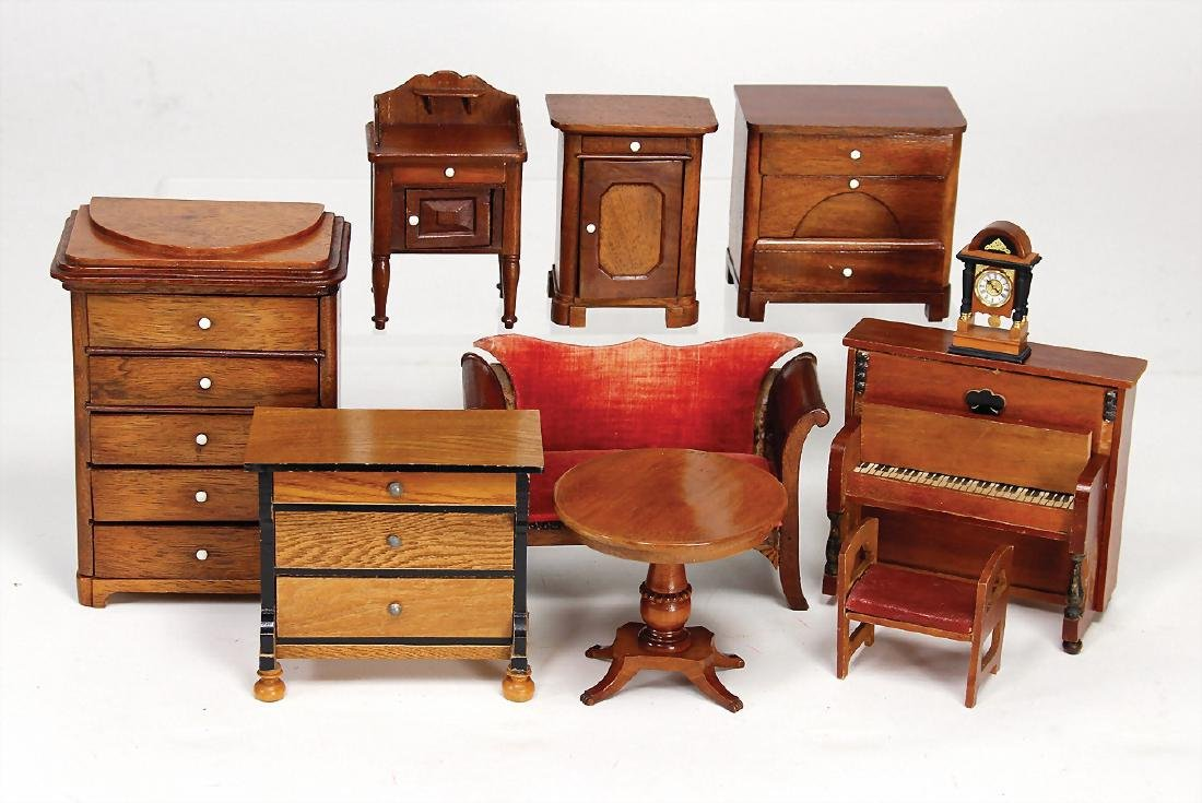 doll kitchen furniture, chest of drawers with drawers,