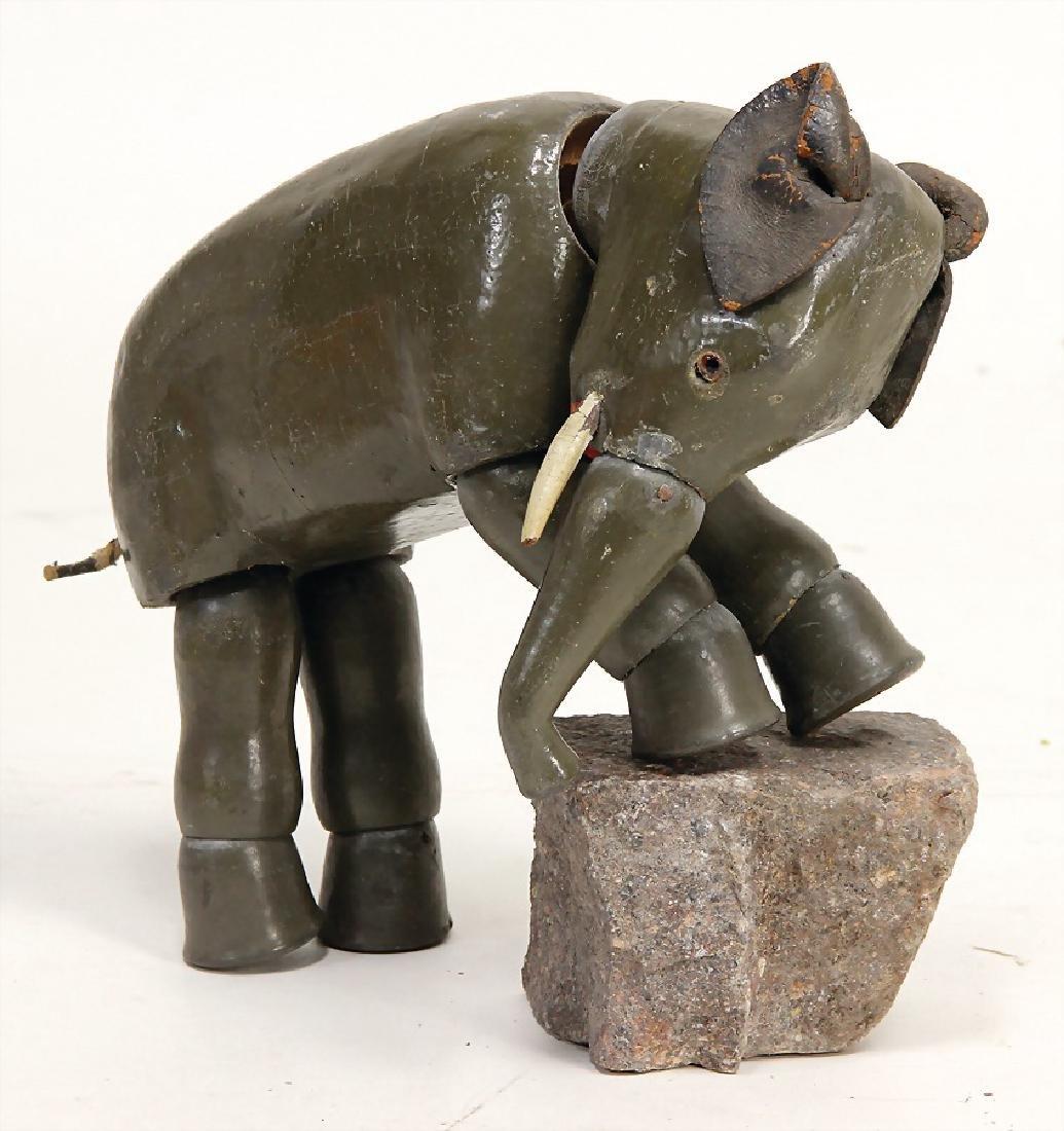 SCHÖNHUT HUMPTY DUMPTY elephant, inset glass eyes,
