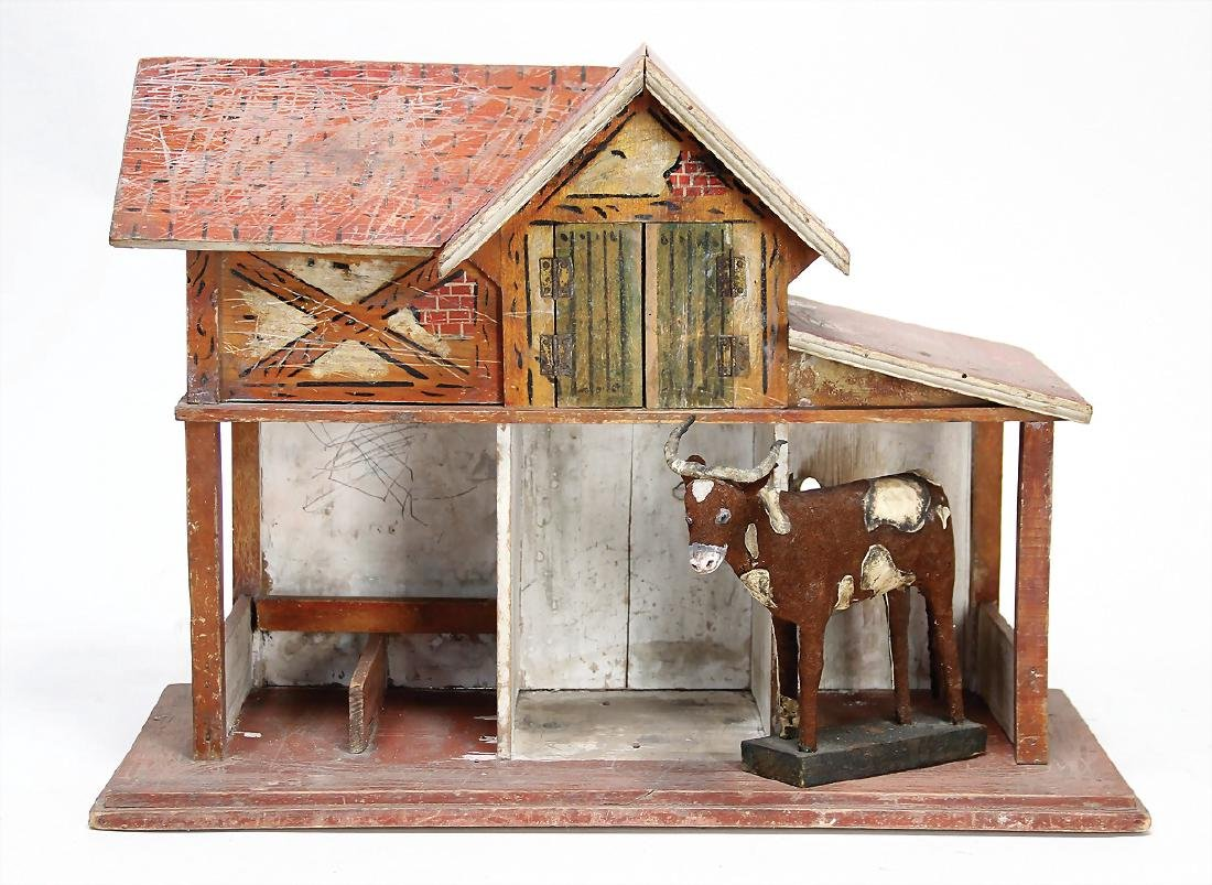 stable, c. 1910, width: 49 cm, height: 37 cm, original