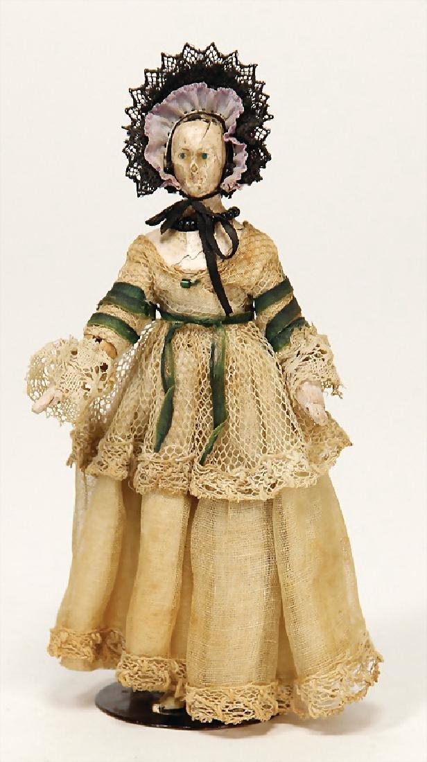 dollhouse doll, Biedermeier, early, wood, jointed body,