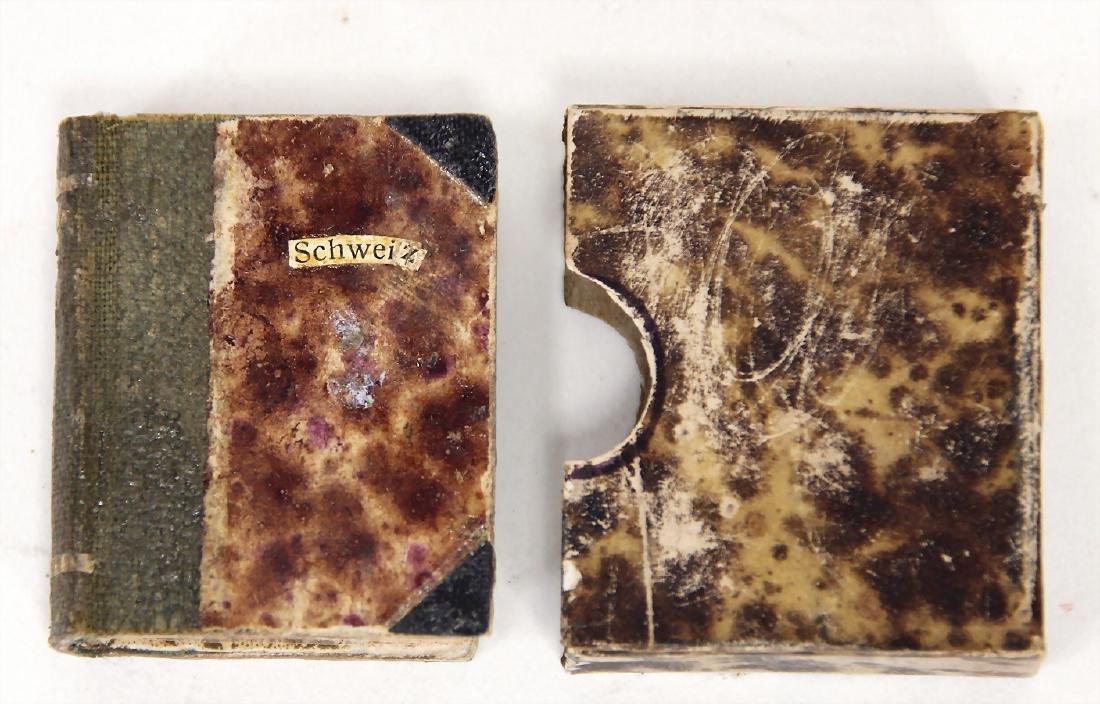 dollhouse stamp album, with miniature stamp, complex