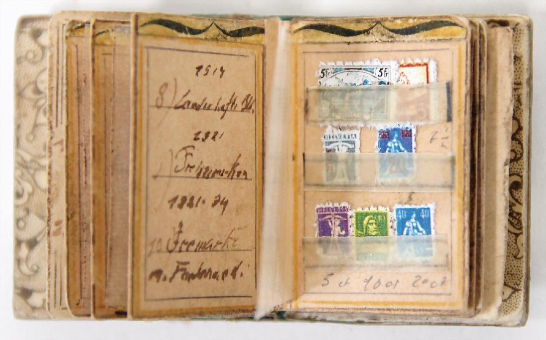 dollhouse stamp album, with miniature stamp, complex - 2