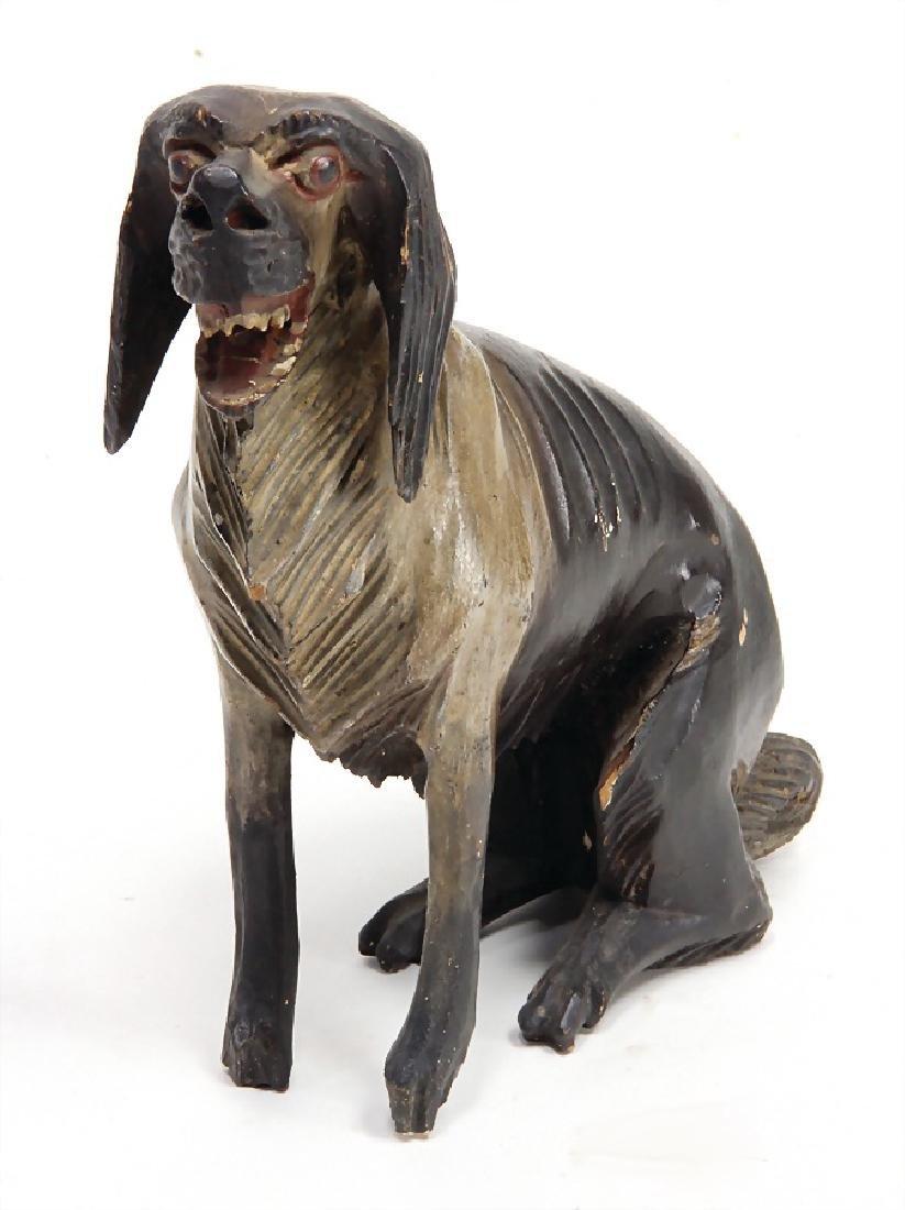dog, Biedermeier, wood carved, Gröden,