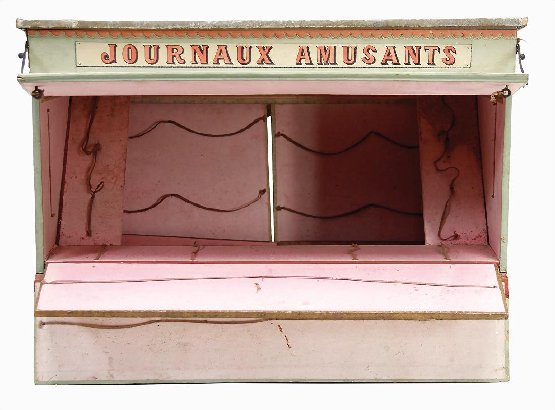 Journaux Amusants lottery, fairground stall, France, - 2