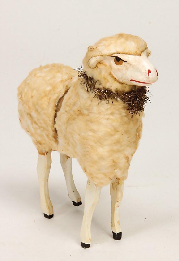 ERZGEBIRGE wool sheep, Candy container, 16 cm, around