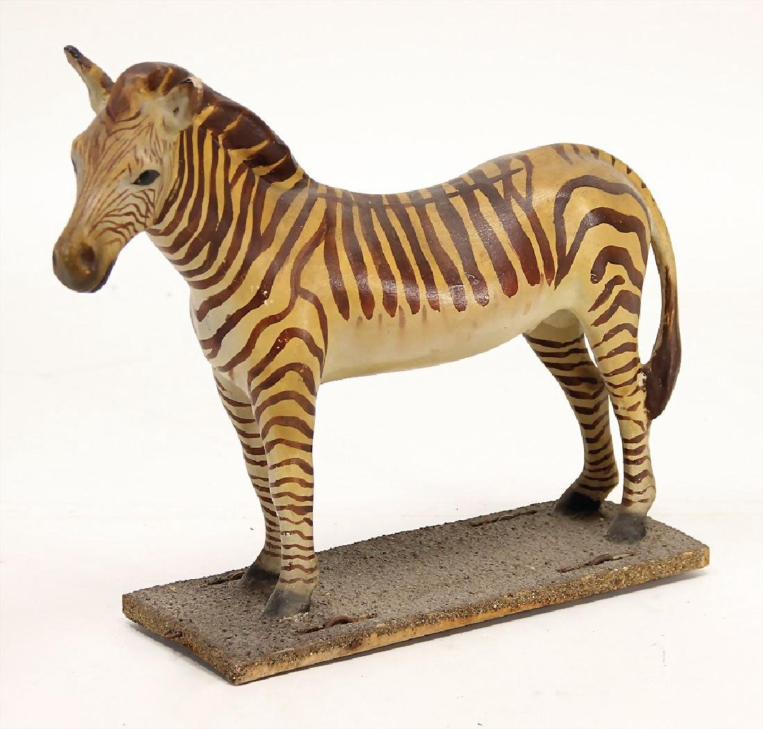 zebra, papier mâché, 35 cm, around 1900,
