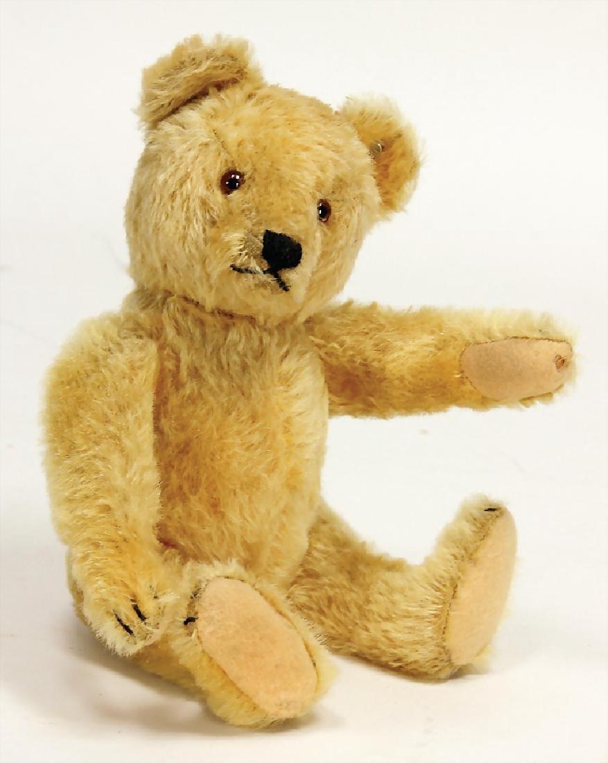 STEIFF original teddy, 30 cm, yellow, with button, good
