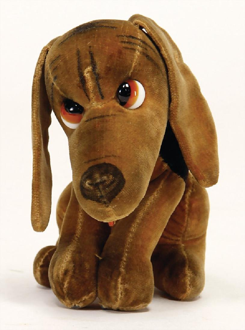dog made of velvet, pre-war era, seat height: 10 cm, - 2
