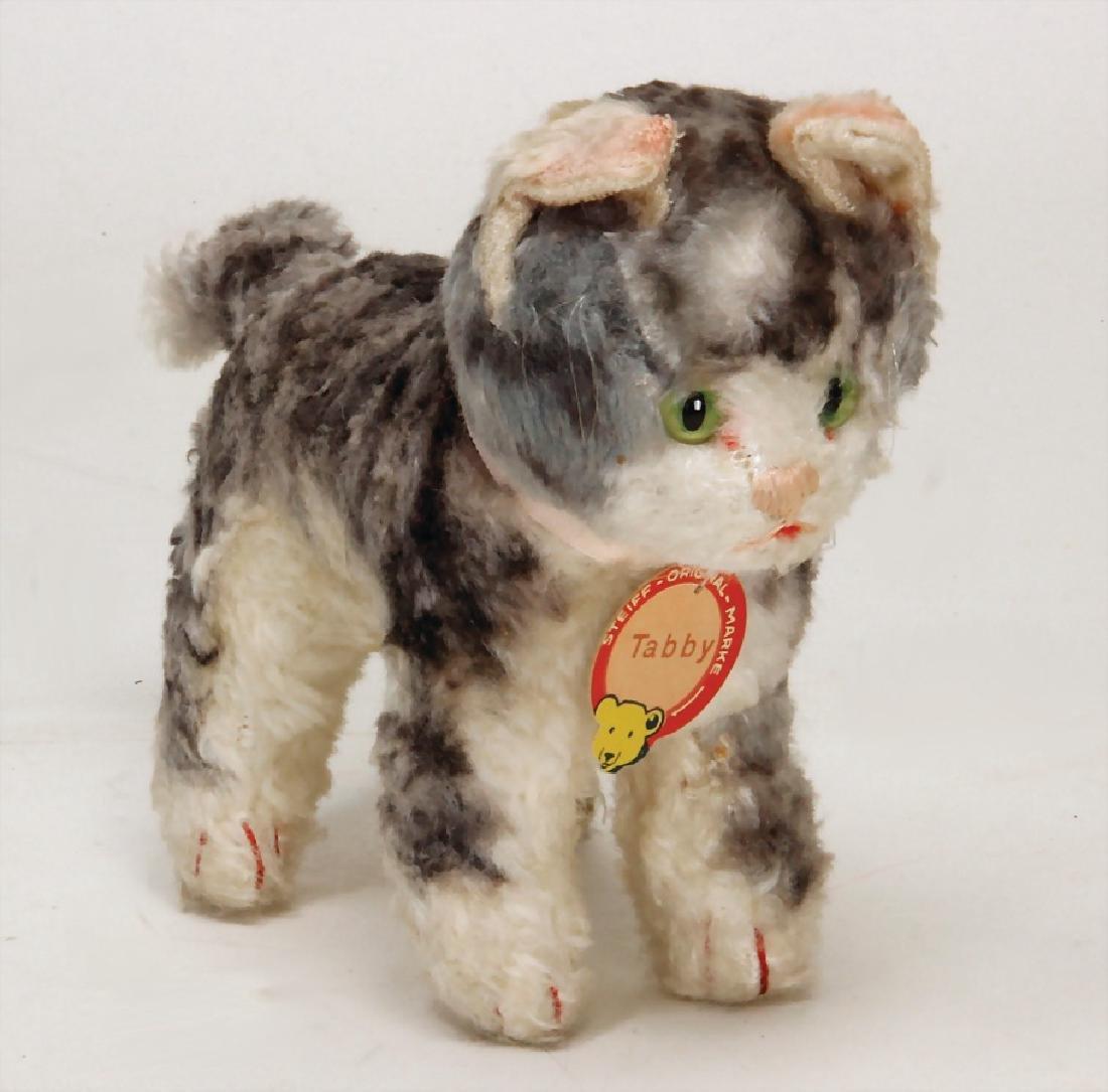 STEIFF Tabby, cat, syntetic silk plush, c. 1949,