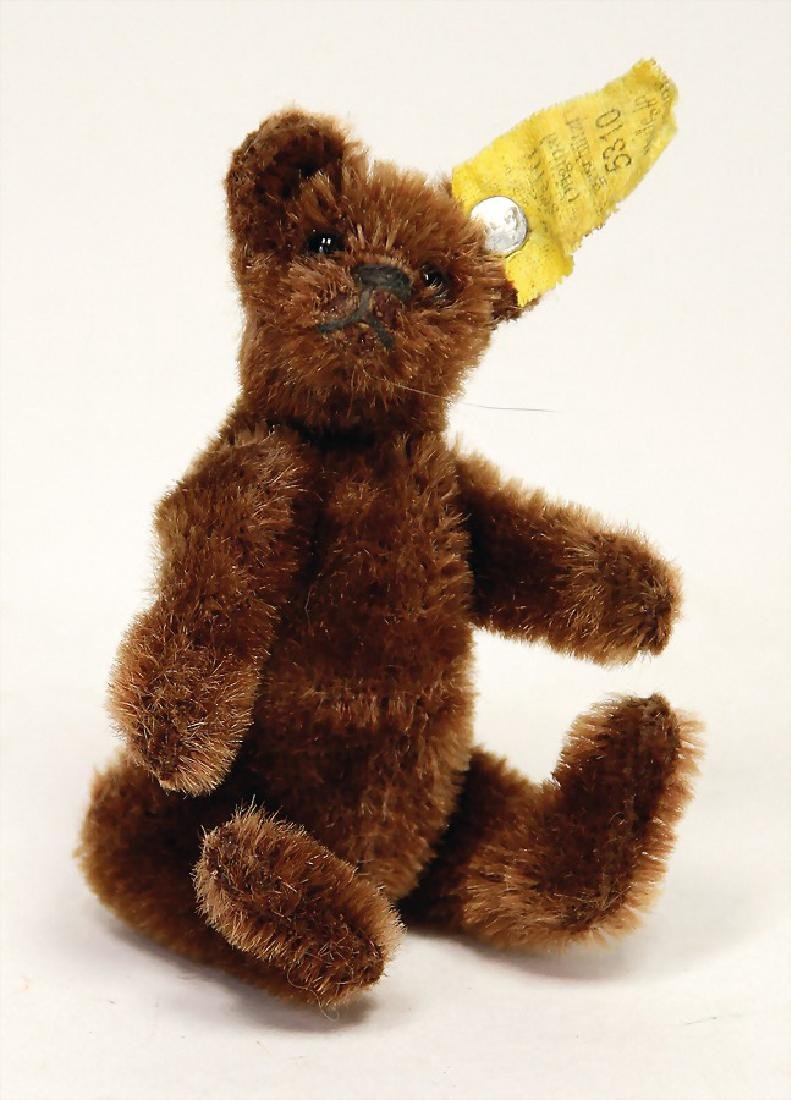 STEIFF bear, pre-war era, dark-brown, 9 cm, with