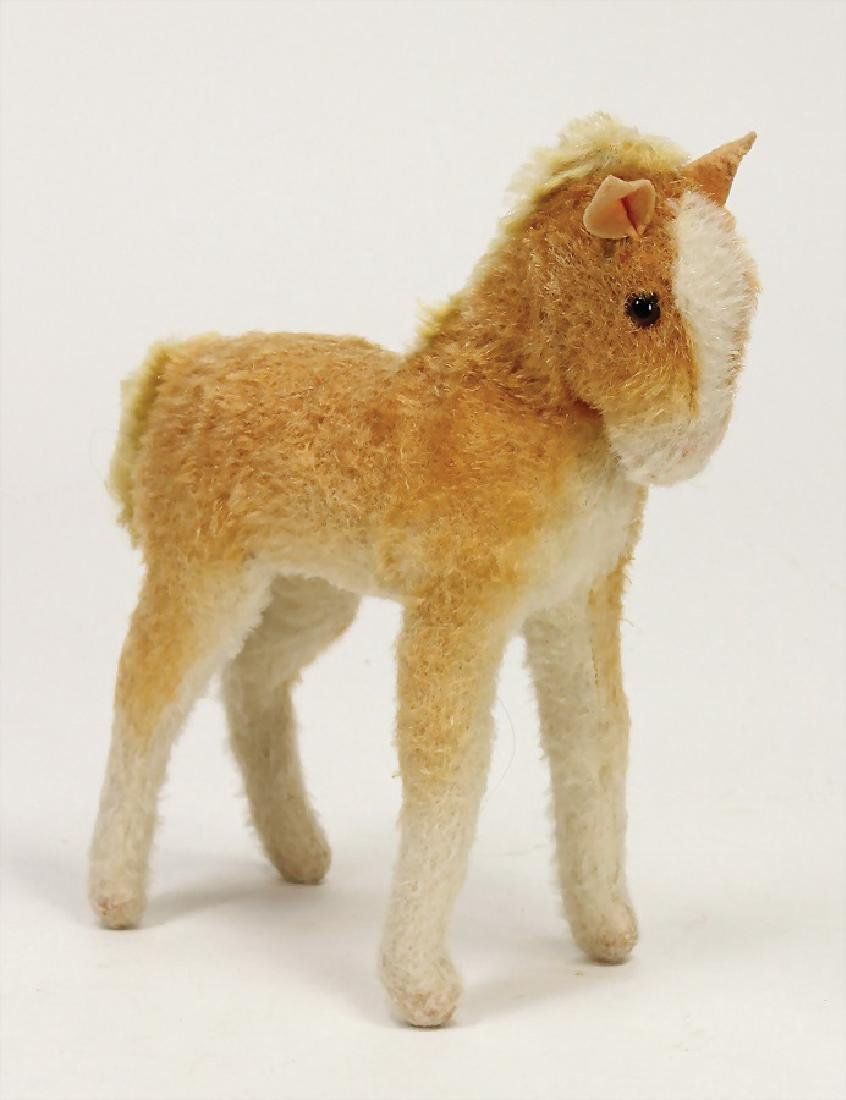 STEIFF horse, wool plush, mohair mane and tail,