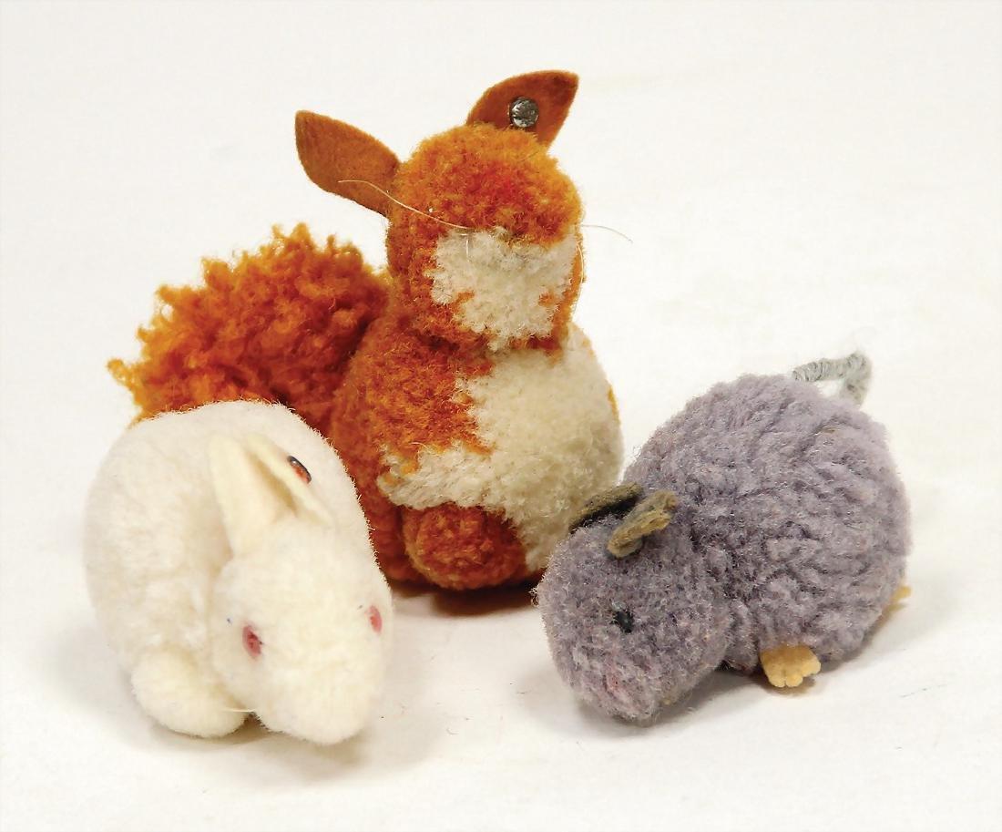 STEIFF wool miniatures, 3 pieces, Nomotta wool, 1