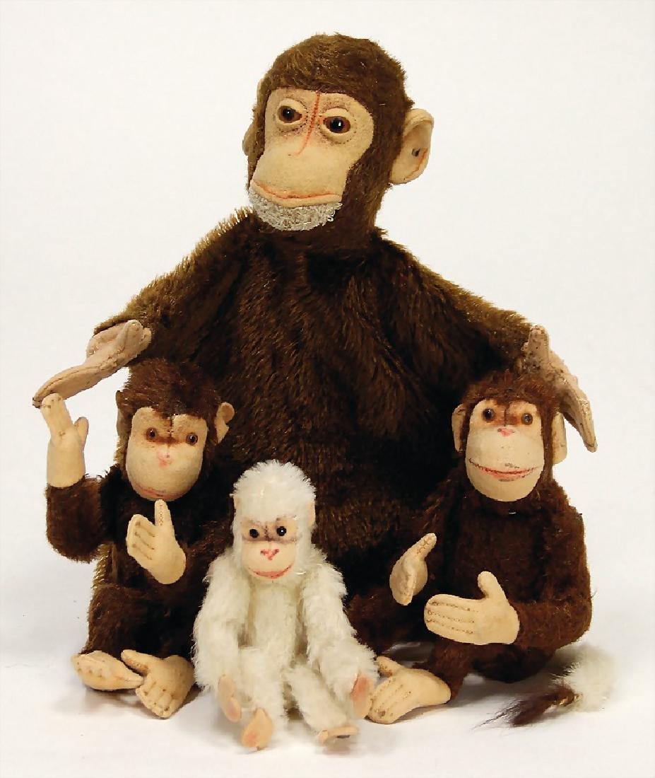 STEIFF mixed lot of  monkeys, 1 hand puppet, pre-war