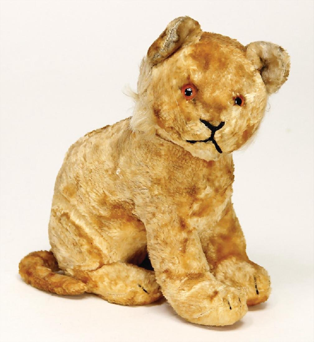 STEIFF young lion, silk plush, 1948-49, with button,