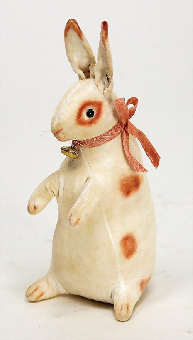 STEIFF hare as rattle, 1910, with button, long