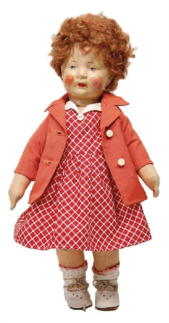 BING fabric doll, swivel head, clearly visible seam at