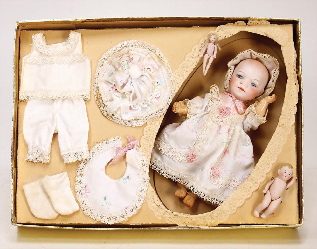 HEUBACH doll with bisque porcelain socket head, full