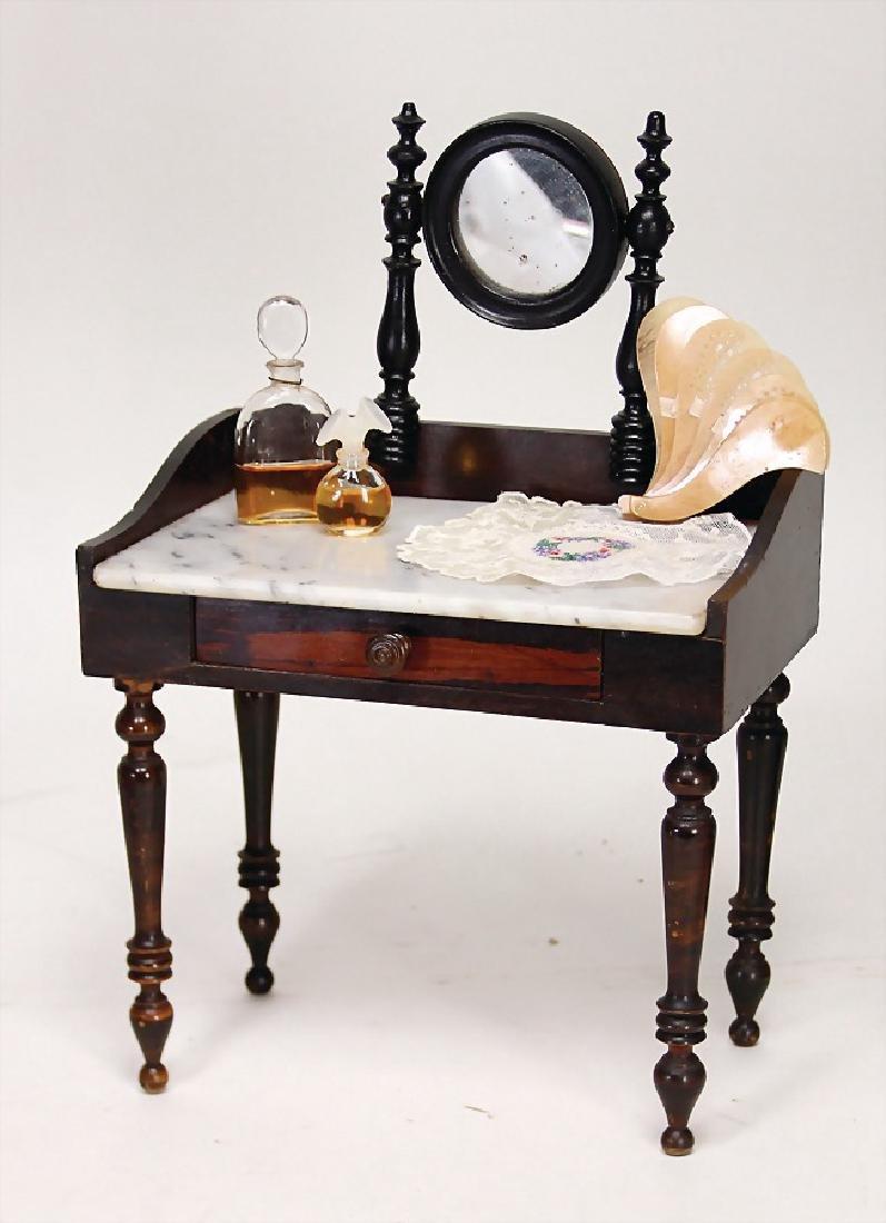 decoration piece, dresser with tiltable mirror, marble