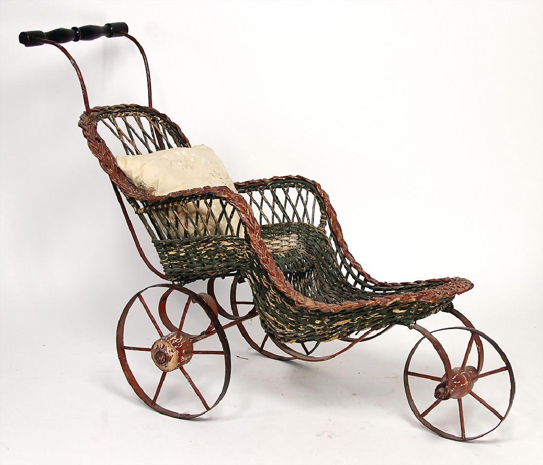 wicker sports cars, decoration piece for a big doll,