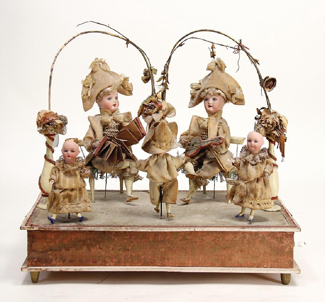 unusual French music machine, intact, 3 children with