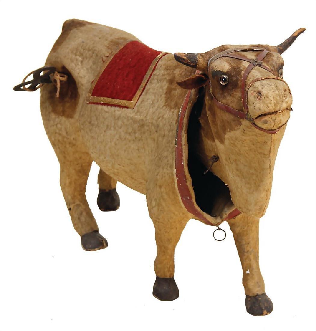 head nodder, cow, papier mâché, lenght: 46