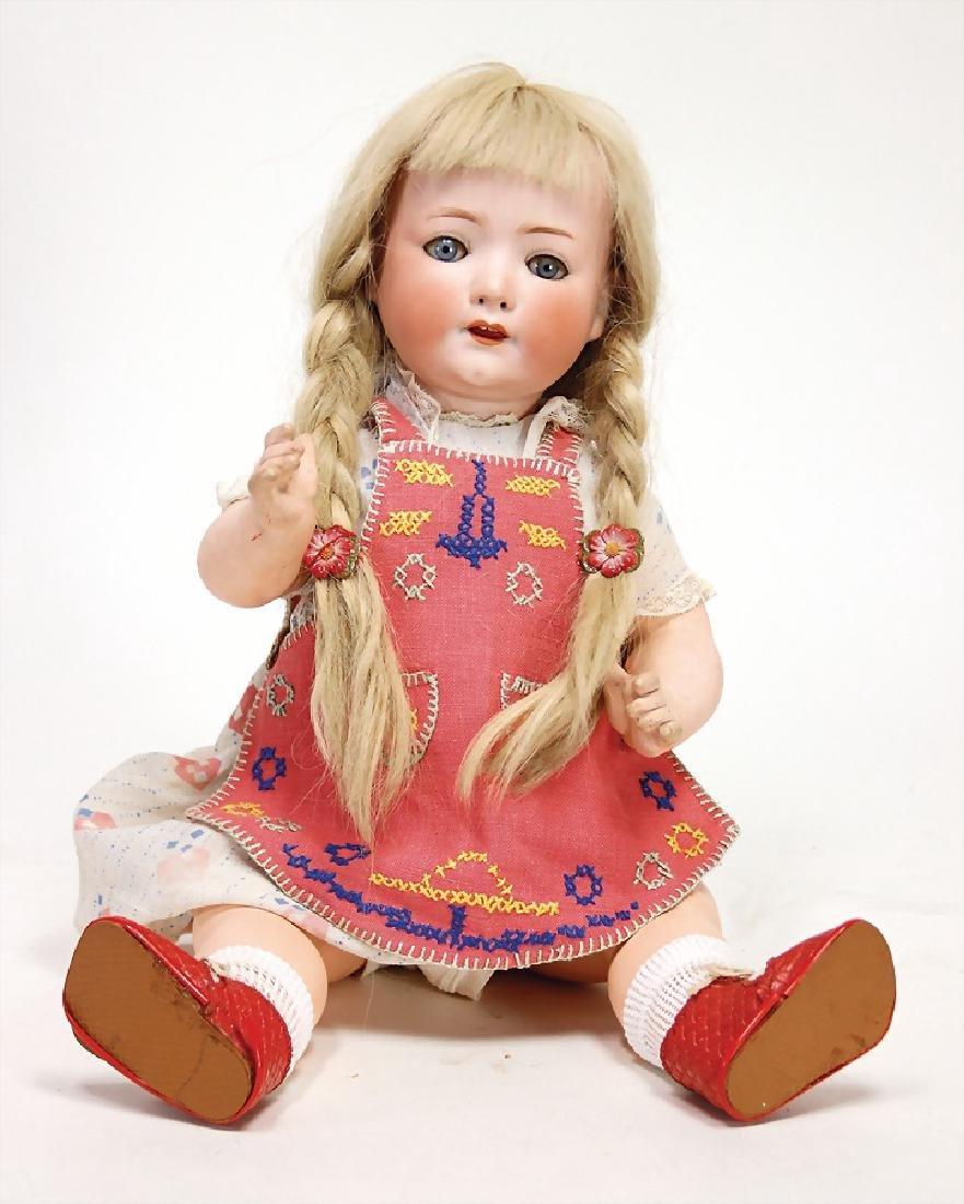 HEUBACH 320, bisque porcelain doll, 50 cm, blue sleepy