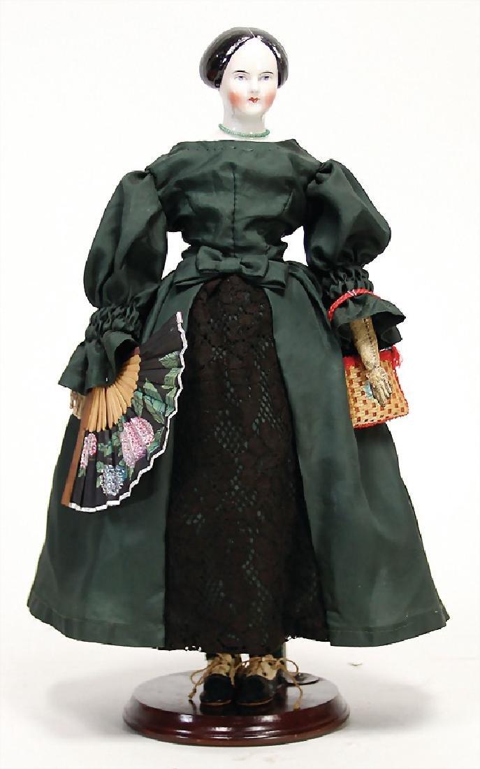 porcelain shoulder headed doll, enameled, China-Head,