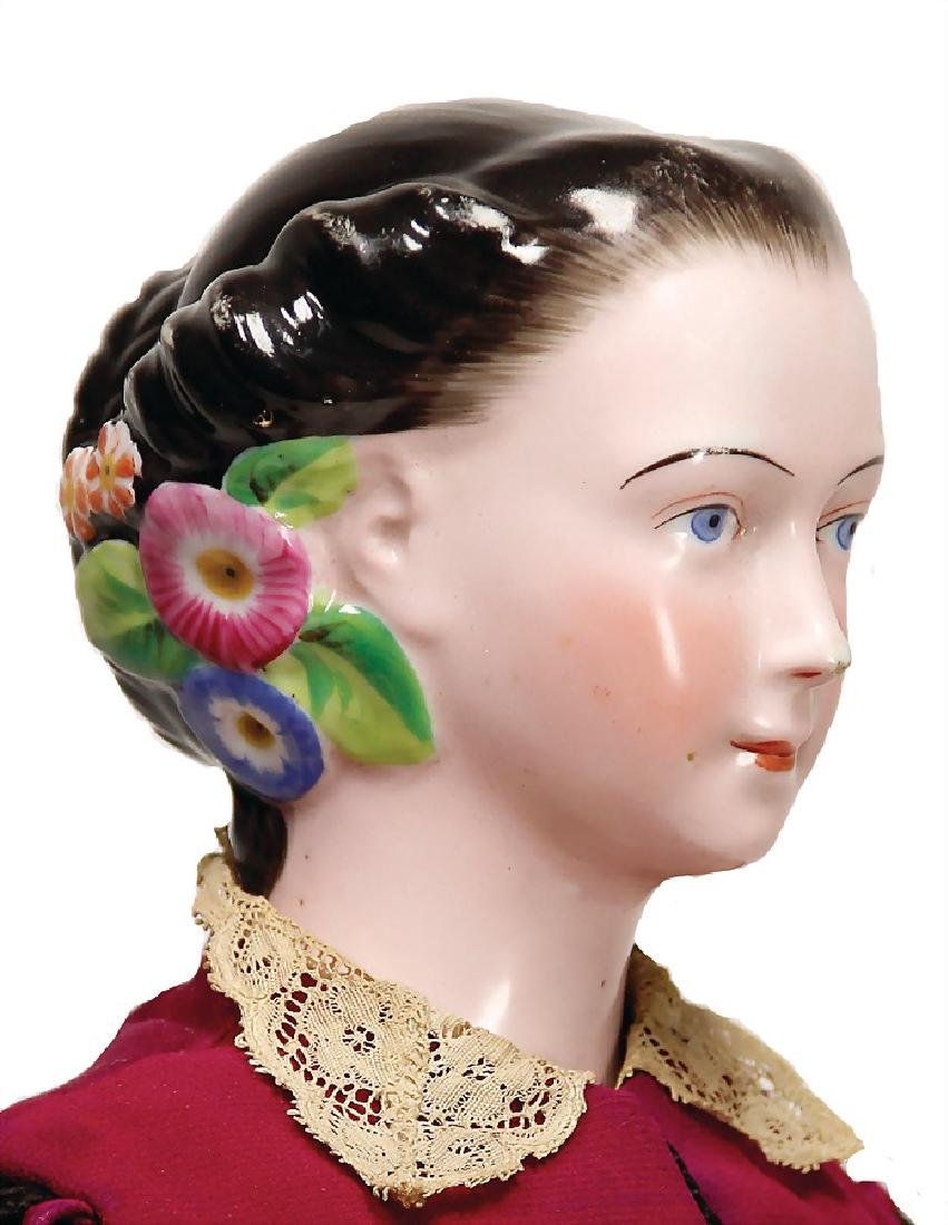probably KPM China-Head, enameled porcelain, breast - 2