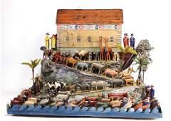 ERZGEBIRGE big Noah`s ark, c. 1850, 74 cm, colored