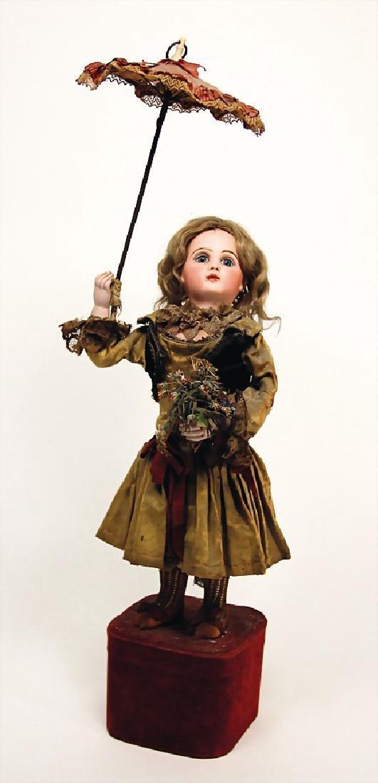 JUMEAU Puppen-Automat, Porzellan-Kopf, gem. Depose 4,