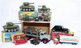 Konv. 15-tlg., Lastwagen, Kipplader, Anhänger,