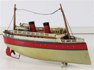 BING Schiff, Blech, 23 cm, 2 Rettungsboote, 2