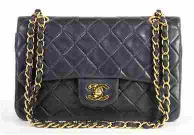 CHANEL Handtasche, Modell: Flap Bag Timeless, blaues
