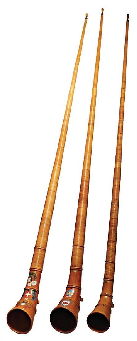 1 set alphorns, instrument maker H. Steck, Switzerland,