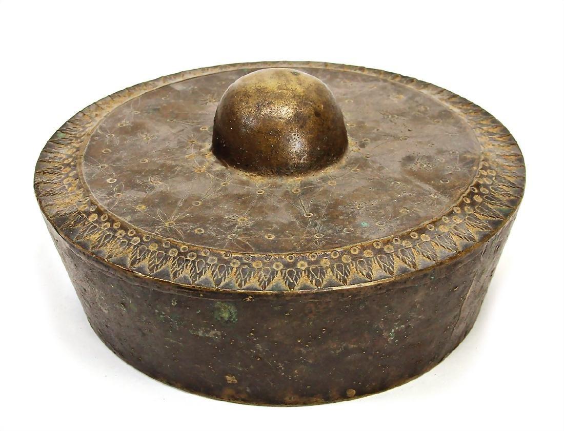 bell, ball gong, metal, 22 cm #109#   German