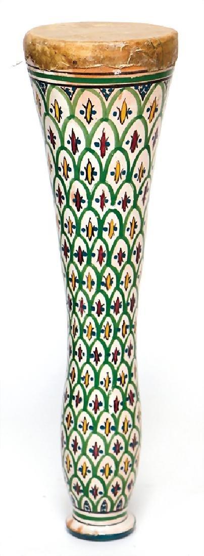 shoulder drum, long drum, Morocco, 54 cm, ceramic,