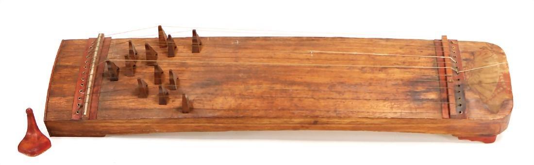 old Japanese koto, wood, 12 strings, 52 cm #782#