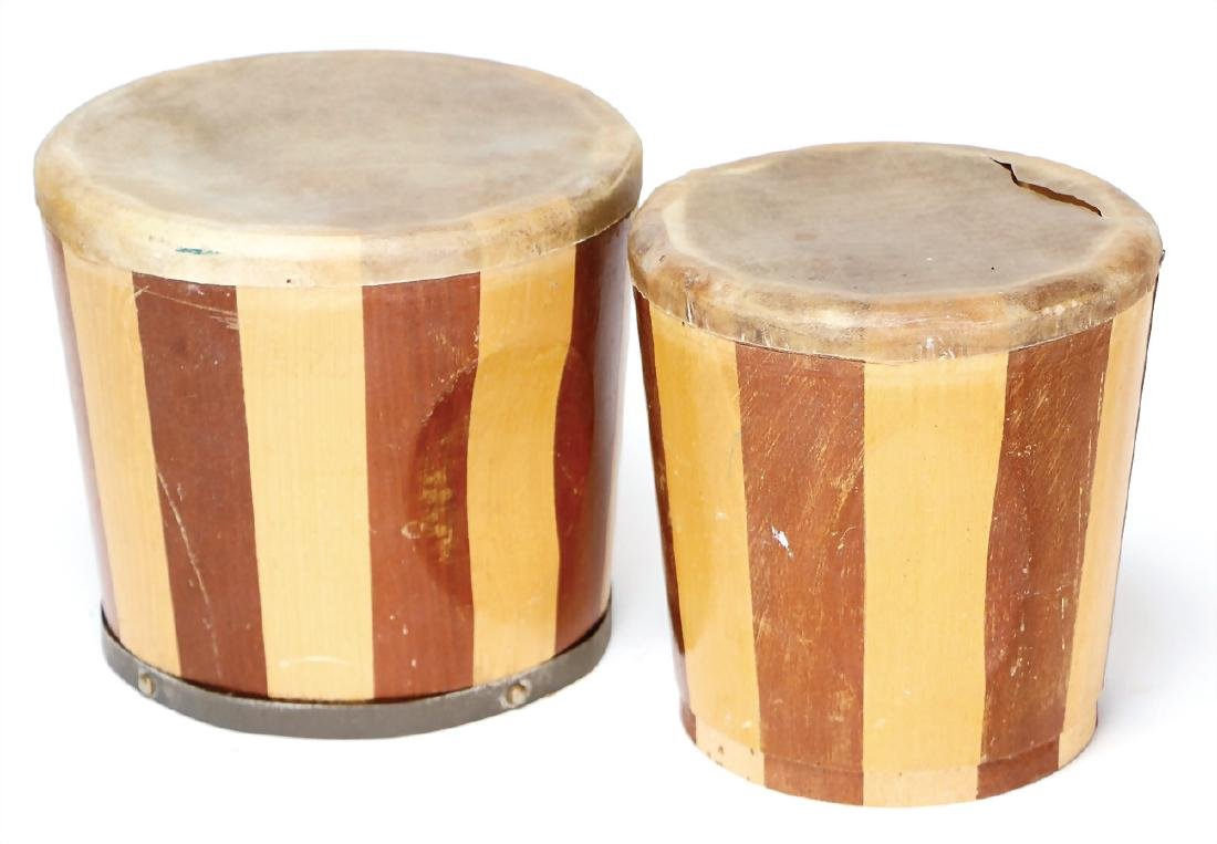 bongo drum, drum head was affixed on the sound box,