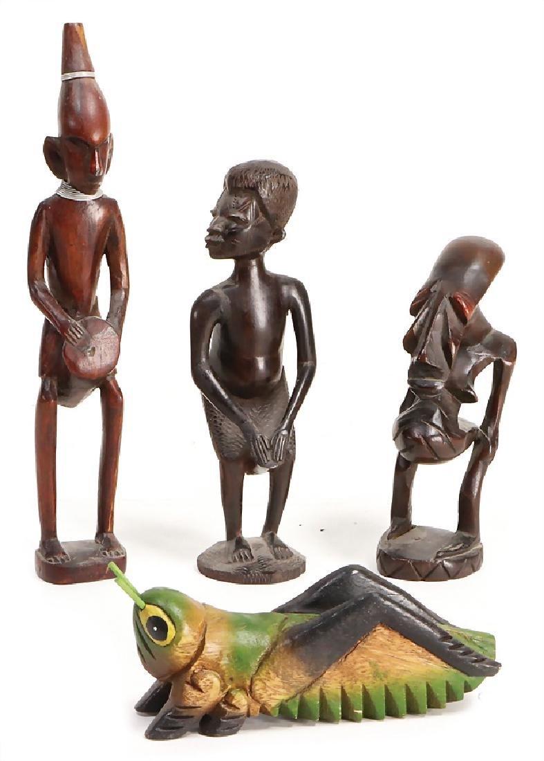 4-part, wood, carved, cricket, 16-26 cm   German