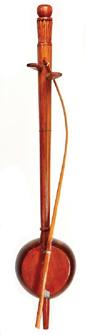 spike violin, Thailand, with 2 strings, resonating body