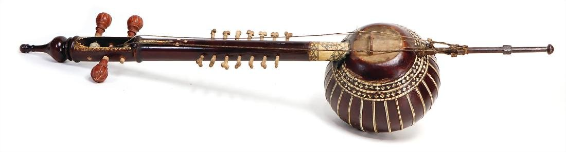 Kashmiri spike lute-bowed lute, with inlaid work,