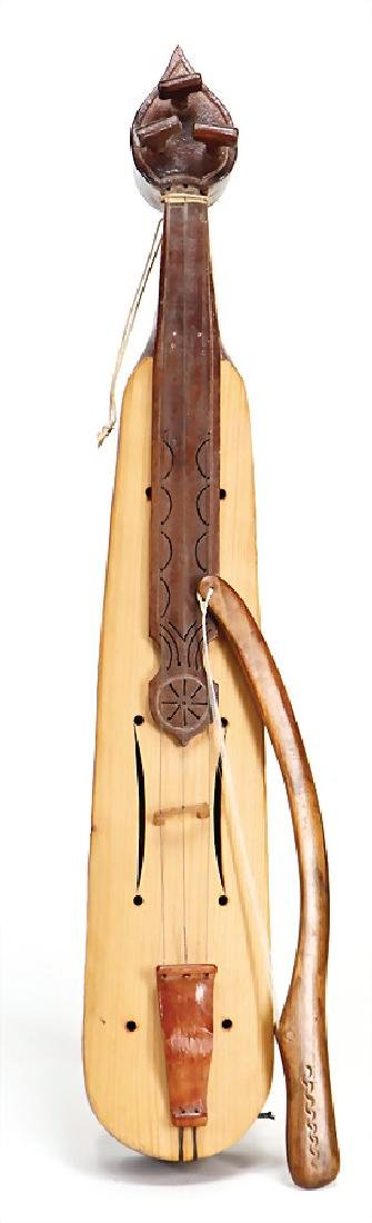 lira with bow, 3 strings, wood, 59 cm #198#   German