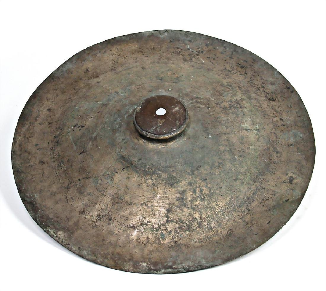 cymbal, brass, hand embossed, with a diameter of 49 cm