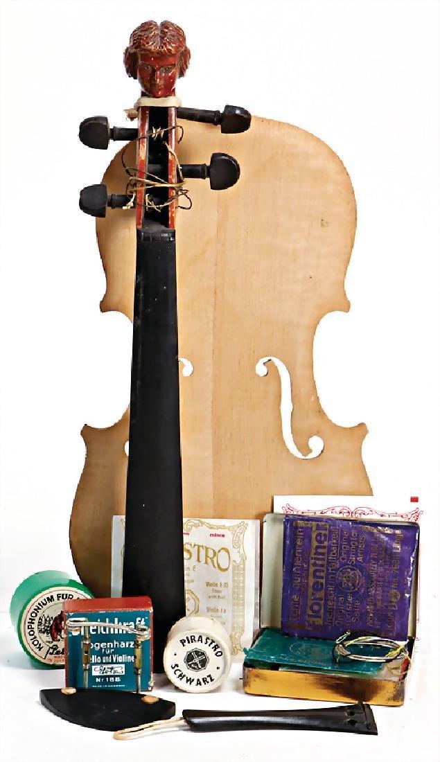 mixed lot of  repair parts for violins, violin's neck