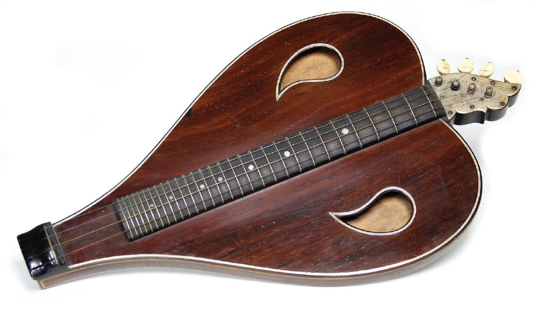 bowed zither, wood, 4 strings, 51 cm, c. 1910,