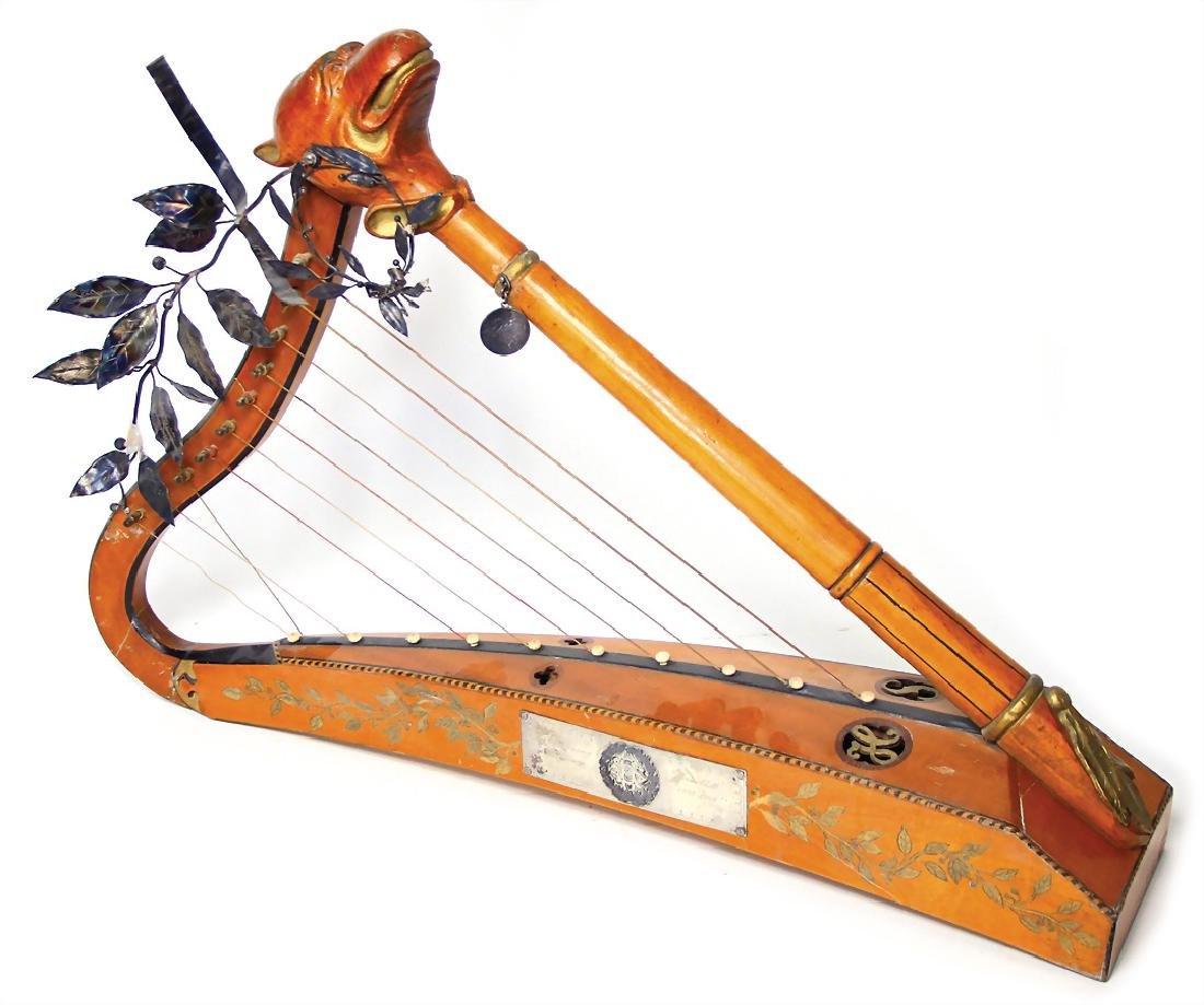 hand harp, badge in the body, Hans Filipp