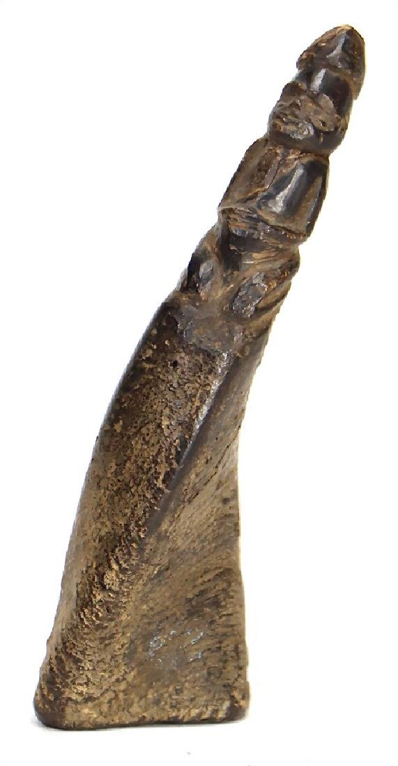 horn flute, with figure, 14 cm #308#   German