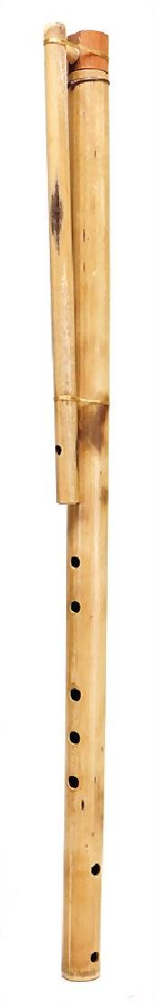 reed-pipe, duct flute, Bolivia, wood, 5 pitch holes,